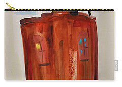 Carry-all Pouch featuring the painting Harlem Townhouse by Mary Carol Williams