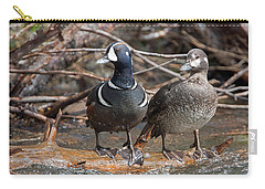 Carry-all Pouch featuring the photograph Harlequin Pair by Jack Bell