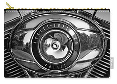 Harley-davidson Police B And W Carry-all Pouch by Cricket Hackmann