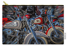 Carry-all Pouch featuring the photograph Harley Pair by Eleanor Abramson