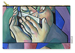 Carry-all Pouch featuring the painting Harmonia Man by Anthony Falbo
