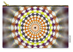 Carry-all Pouch featuring the drawing Harmonic Sphere Of Energy by Derek Gedney