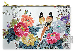 Carry-all Pouch featuring the painting Harmony And Lasting Spring by Yufeng Wang