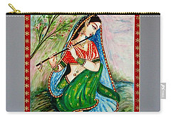 Carry-all Pouch featuring the painting Harmony by Harsh Malik