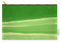 Harmony In Green Carry-all Pouch by Linda Woods