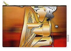 Carry-all Pouch featuring the digital art Harp Player by Marvin Blaine