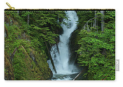 Carry-all Pouch featuring the photograph Harrison Lake Road Falls by Rod Wiens