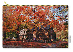 Carry-all Pouch featuring the photograph Hartwell Tavern Under Canopy Of Fall Foliage by Jeff Folger