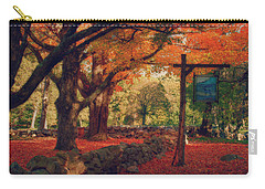 Carry-all Pouch featuring the photograph Hartwell Tavern Under Orange Fall Foliage by Jeff Folger
