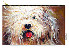 Harvey The Sheepdog Carry-all Pouch by Rebecca Korpita