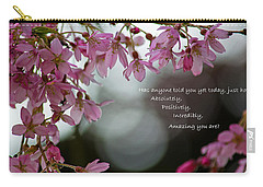 Carry-all Pouch featuring the photograph Has Anyone Told You... by Jordan Blackstone