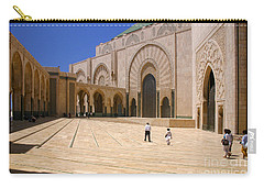 Carry-all Pouch featuring the photograph Hassan II Mosque Grand Mosque Sour Jdid Casablanca Morocco by Ralph A  Ledergerber-Photography