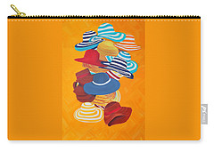 Carry-all Pouch featuring the painting Hats Off by Deborah Boyd