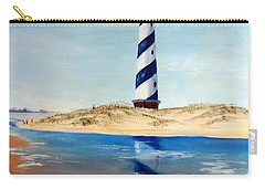 Carry-all Pouch featuring the painting Hatteras Lighthouse by Lee Piper