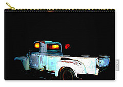 Carry-all Pouch featuring the digital art Haunted Truck by Cathy Anderson
