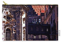 Carry-all Pouch featuring the photograph Hausmann Tower In Dresden Germany by Jordan Blackstone
