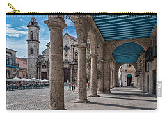 Havana Cathedral And Porches. Cuba Carry-all Pouch