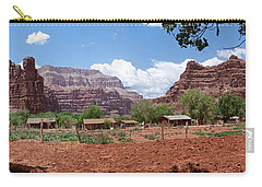 Carry-all Pouch featuring the photograph Havasupai Village Panorama by Alan Socolik