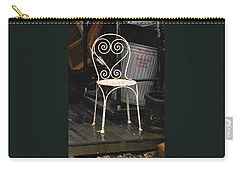 Carry-all Pouch featuring the photograph Have A Seat by Ira Shander