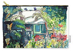 Carry-all Pouch featuring the painting Hawaiian Cottage 3 by Marionette Taboniar