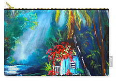 Hawaiian Hut In The Mist Carry-all Pouch