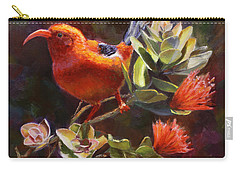 Hawaiian IIwi Bird And Ohia Lehua Flower Carry-all Pouch
