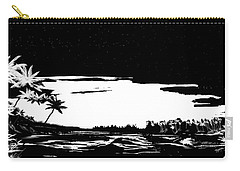 Carry-all Pouch featuring the digital art Hawaiian Night by Anthony Fishburne