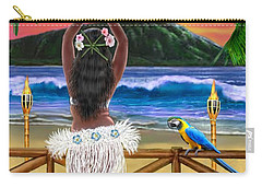 Hawaiian Sunset Hula Carry-all Pouch by Glenn Holbrook