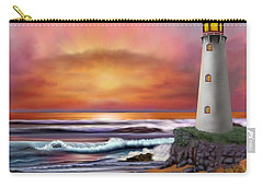 Hawaiian Sunset Lighthouse Carry-all Pouch by Glenn Holbrook