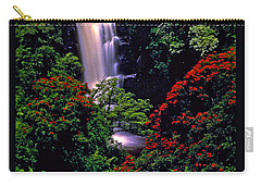 Hawaiian Waterfall With Tulip Trees Carry-all Pouch