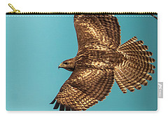 Hawk In Flight Carry-all Pouch