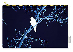 Hawk Silhouette On Blue Carry-all Pouch by Lesa Fine