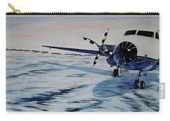 Carry-all Pouch featuring the painting Hawker - Airplane On Ice by Marilyn  McNish