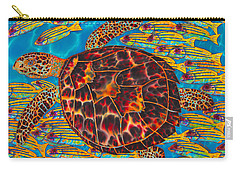Hawksbill Sea  Turtle And  Snappers Carry-all Pouch
