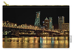 Hawthorne Bridge Over Willamette River Carry-all Pouch