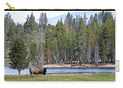 Hayden Valley Bison Carry-all Pouch by Laurel Powell