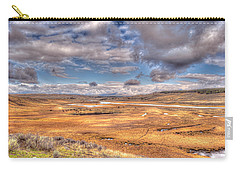 Hayden Valley Bison On Yellowstone River Carry-all Pouch