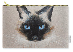 Carry-all Pouch featuring the drawing Hayley by Jamie Frier