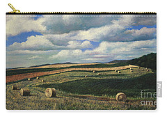 Hayrolls On Swirl Field In Latrobe By Christopher Shellhammer Carry-all Pouch