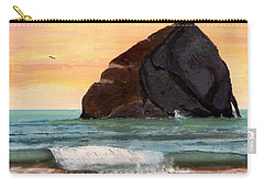 Haystack Rock At Kiwanda Carry-all Pouch by Chriss Pagani