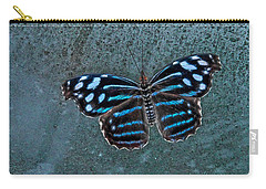 Carry-all Pouch featuring the photograph Hdr Butterfly by Elaine Malott