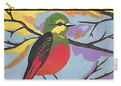 Carry-all Pouch featuring the painting He Aint That Tweet by Kathleen Sartoris