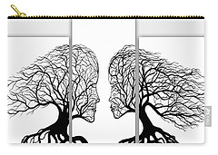 He And She In Love Triptych Acrylic On Canvas Carry-all Pouch
