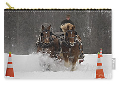 Heading To The Finish Carry-all Pouch by Carol Lynn Coronios