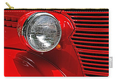 Headlight On Red Car Carry-all Pouch
