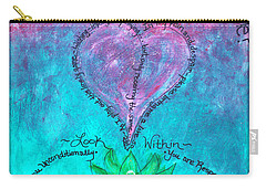 Healing Art - Love Respect And Cherish Me? Carry-all Pouch