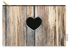 Carry-all Pouch featuring the photograph Heart In Wood by Brooke T Ryan
