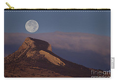 Heart Mountain And Full Moon-signed-#0325 Carry-all Pouch
