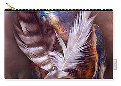 Heart Of A Hawk Carry-all Pouch by Carol Cavalaris