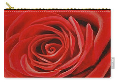 Heart Of A Red Rose Carry-all Pouch